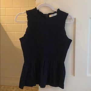 NEW WO TAGS Amanda Uprichard Smocked Peplum Top